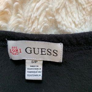 Guess Tops - Guess black rhinestone encrusted t-shirt